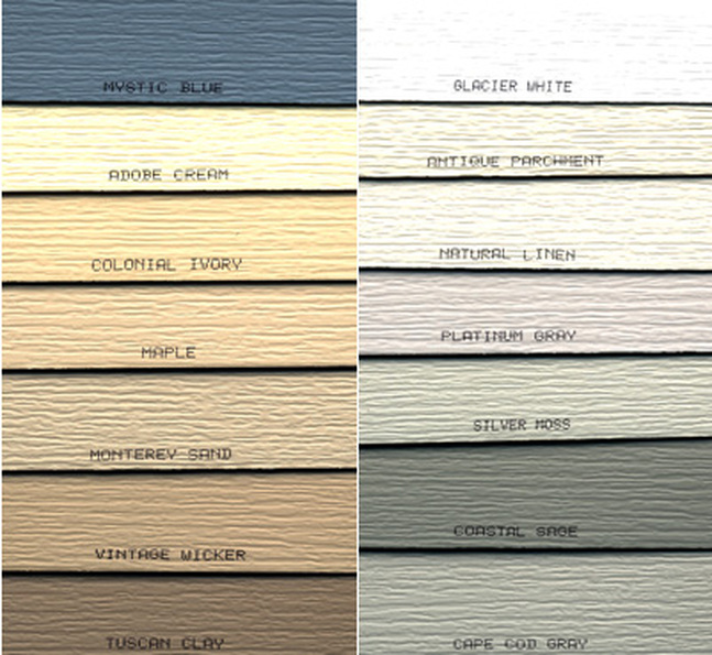 Conquest siding supply inc for Cypress color vinyl siding